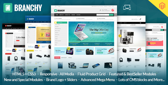 Branchy - Magento Responsive Theme - Technology Magento