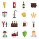 Beer Icons Flat Set - GraphicRiver Item for Sale