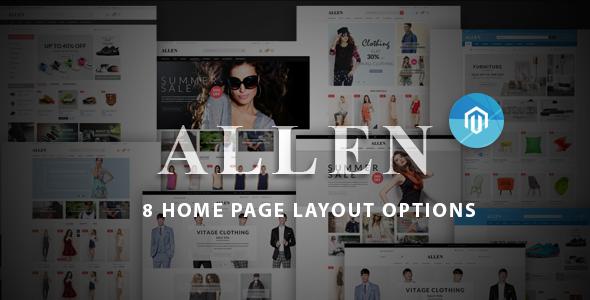 Allen – Multipurpose Responsive Magento Theme