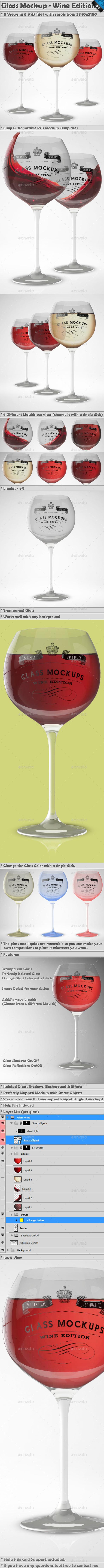 Glass Mockup - Wine Glass Mockup Volume 4  - Miscellaneous Print