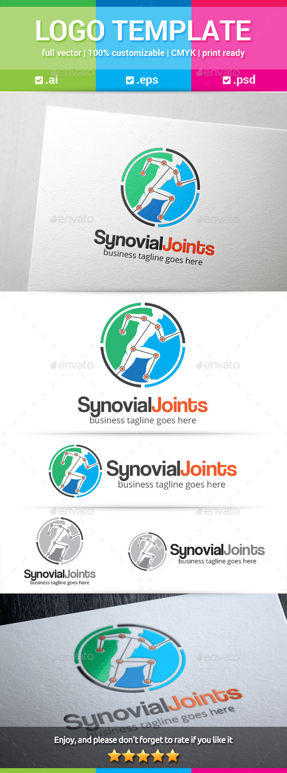 Synovial Joints - Humans Logo Templates