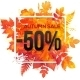 Autumn Sale 50 Percent Discount Vector Banner - GraphicRiver Item for Sale