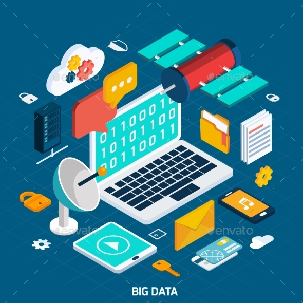 Big Data Isometric Concept - Computers Technology