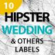 Hipster Wedding Label Badges - GraphicRiver Item for Sale