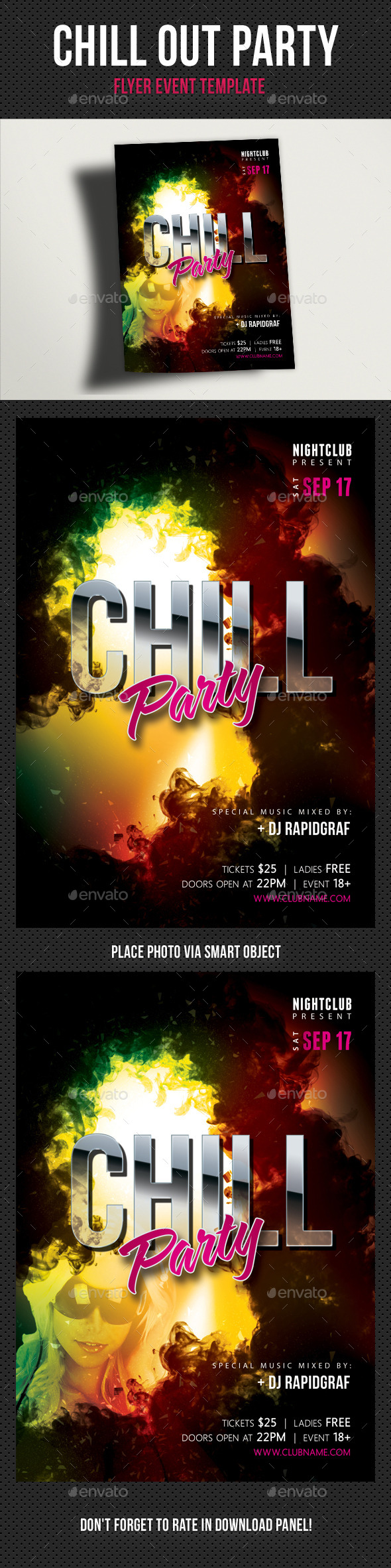 Chill Out Flyer V02 - Clubs & Parties Events