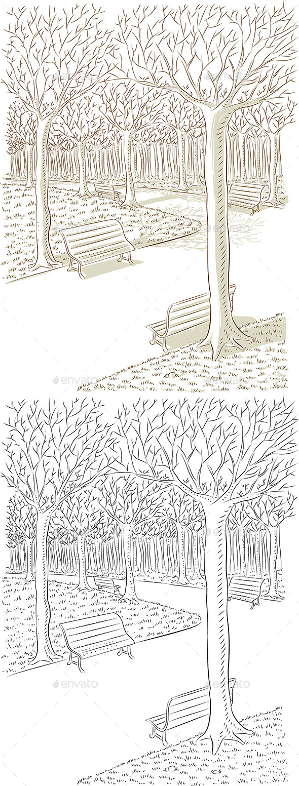Park Vector - Nature Conceptual