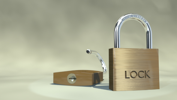 Padlock - 3DOcean Item for Sale