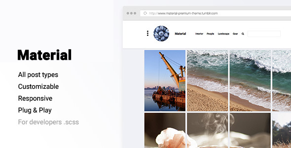 Material 2 - Responsive Portfolio Theme For Tumblr