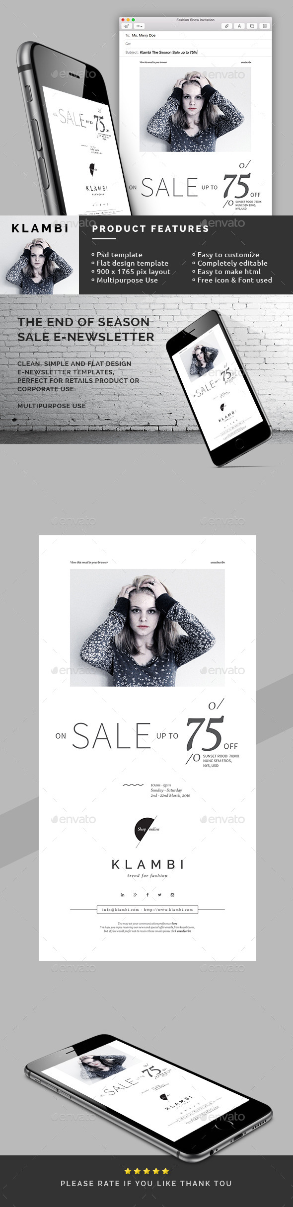 The End of Season Sale E-Newsletter - E-newsletters Web Elements