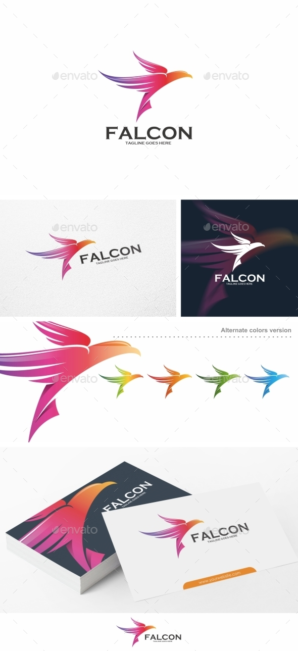 Falcon Bird Logo Template
