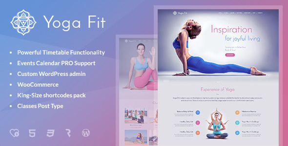 Yoga Fit Sports Fitness & Gym WordPress Theme