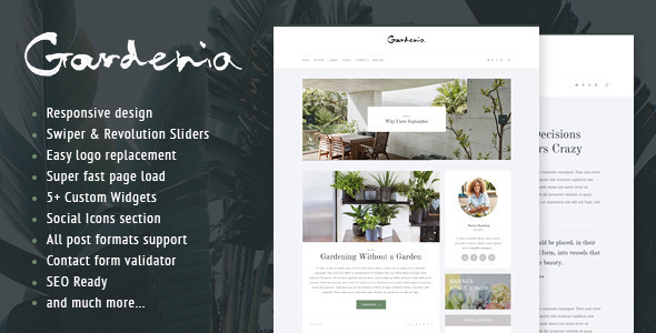 Gardenia – WordPress Personal Blog Theme