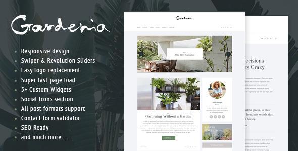 Gardenia - WordPress Personal Blog Theme