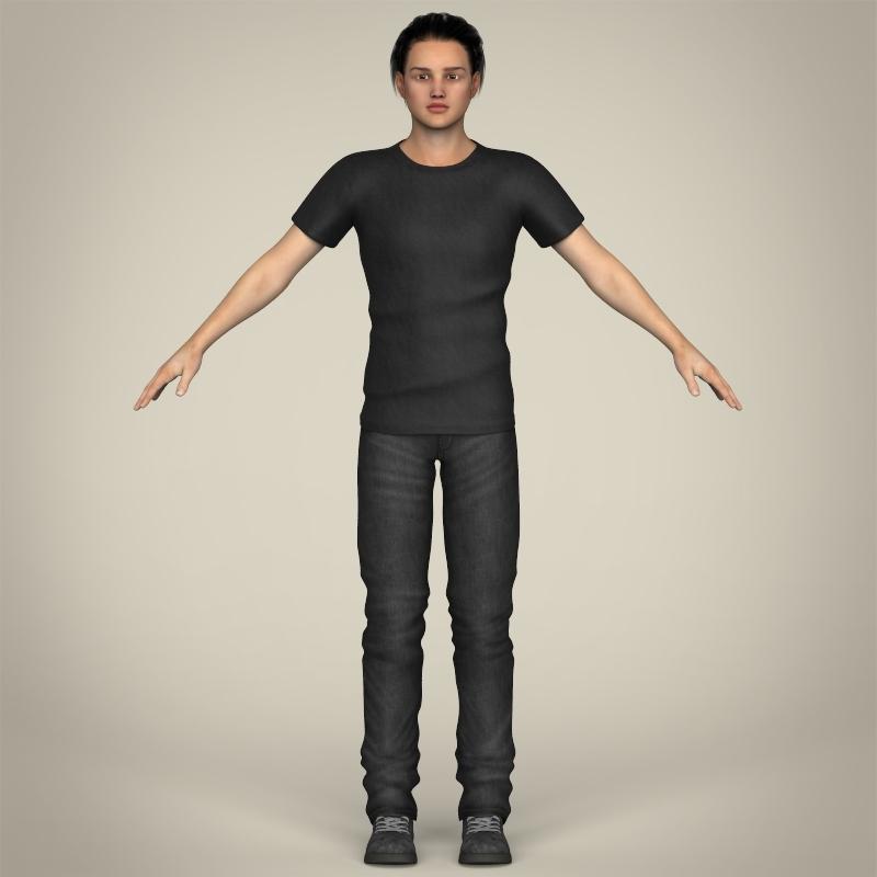 Teen Boy 3D Model