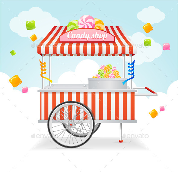 Candy Cart Market Card - Retail Commercial / Shopping