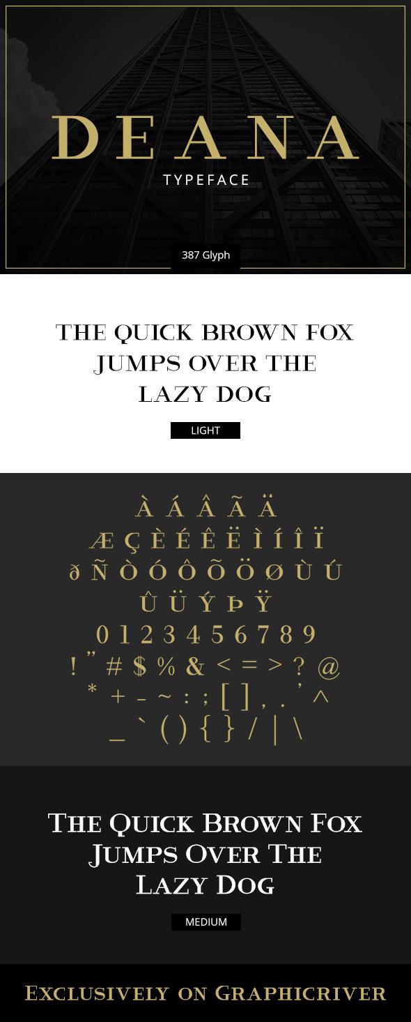 Deana - Serif Fonts