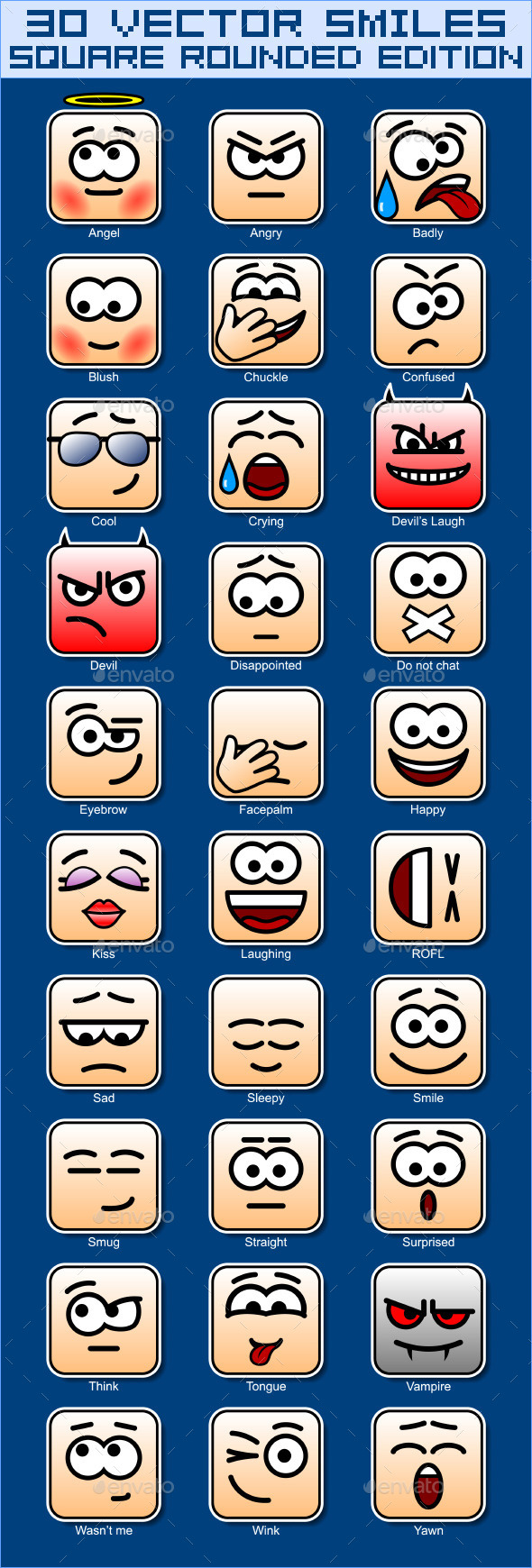 30 Square Smiles - Miscellaneous Characters