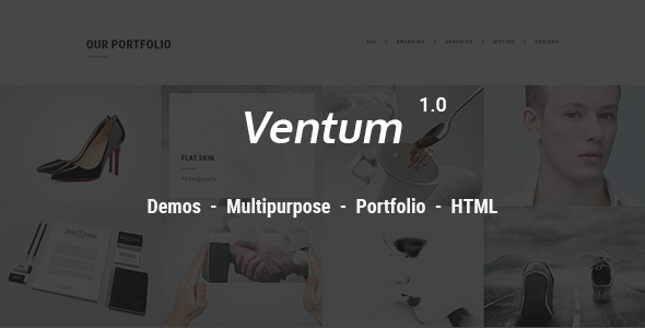 Ventum – Creative Portfolio HTML 5 Template