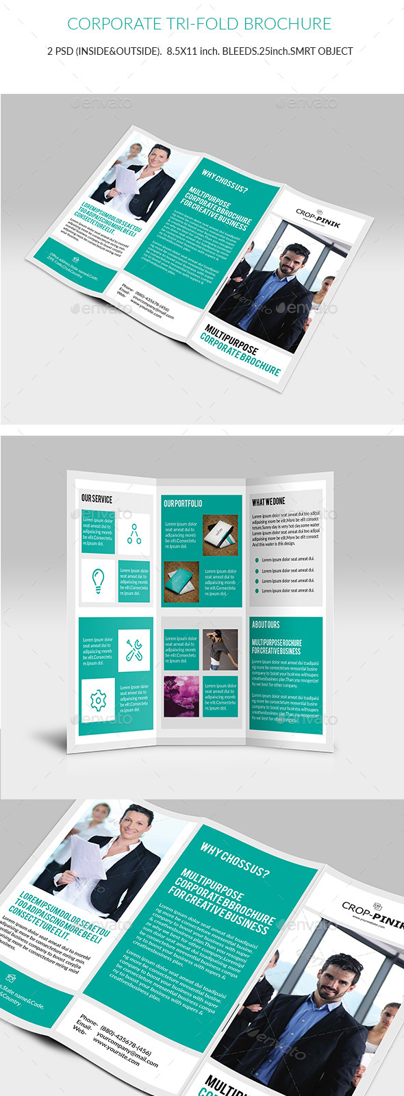 Company Portfolio Tri-Fold Brochure V2 - Corporate Brochures
