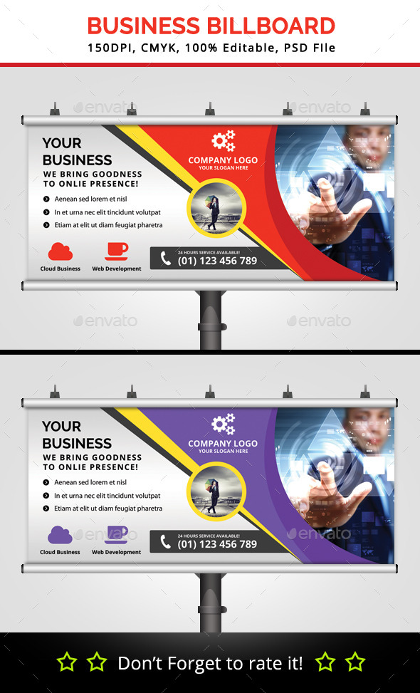 Business Billboard V3 - Signage Print Templates
