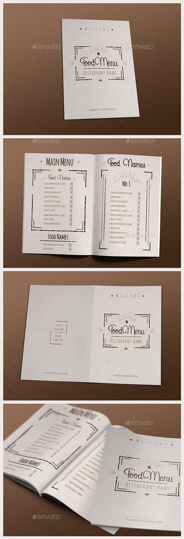 Elegant Food Menu IV - Food Menus Print Templates