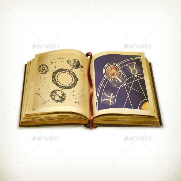 Old Astrology Book - Man-made Objects Objects