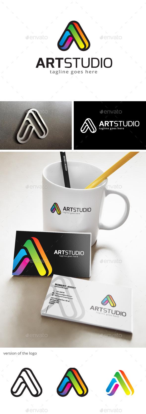 Art Studio - Letter A Logo - Letters Logo Templates