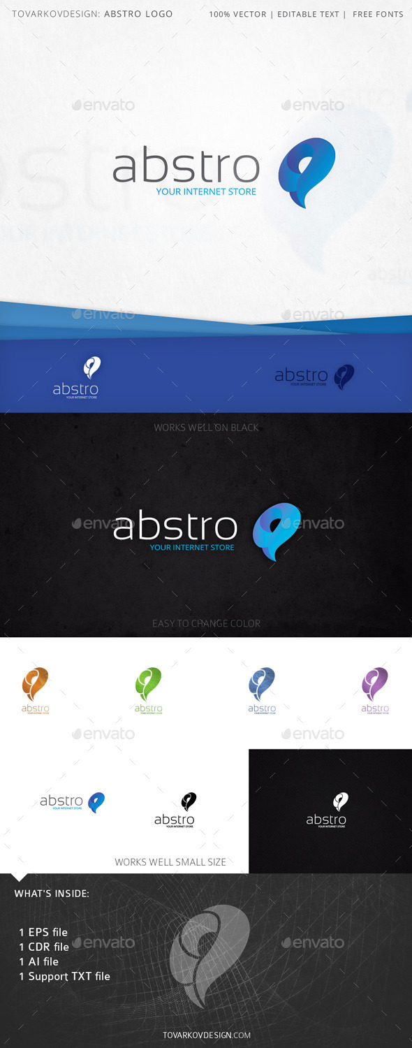 Abstro Swirls Swoosh Logo Template