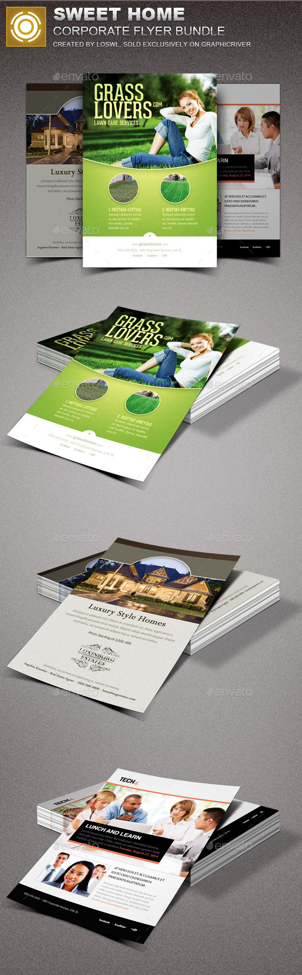 Sweet Home Corporate Flyer Bundle - Corporate Flyers