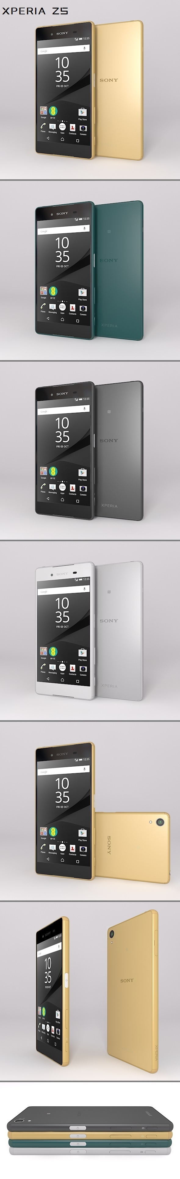 Sony Xperia Z5 - 3DOcean Item for Sale