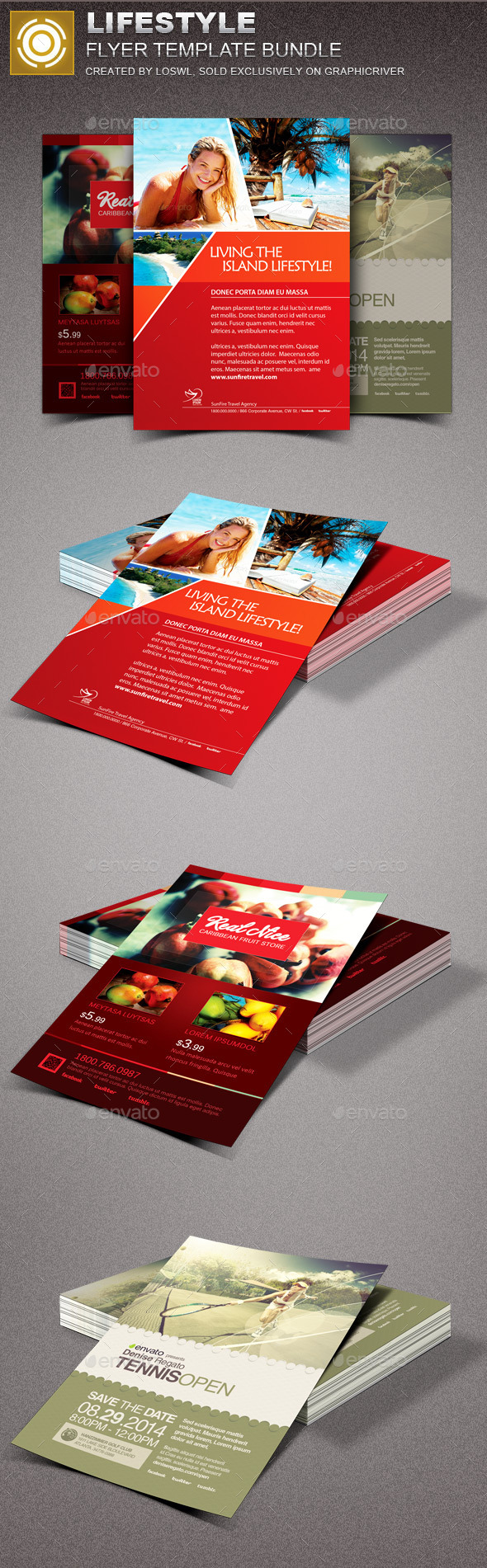 Lifestyle Flyer Template Bundle - Events Flyers