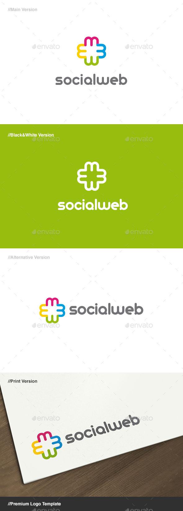 Social Web Logo - Letters Logo Templates