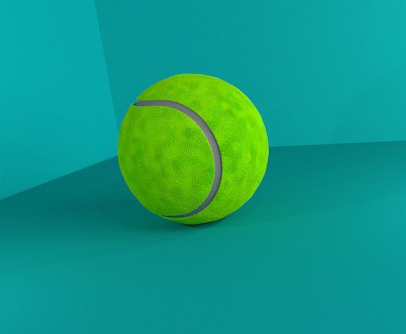 Tennis Ball 3D Model - 3DOcean Item for Sale
