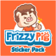 Frizzy Pig Sticker Pack - GraphicRiver Item for Sale