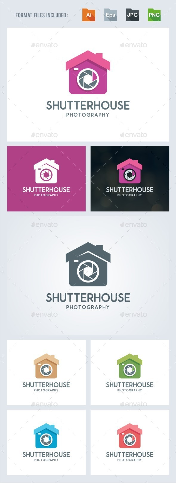 Shutter House - Photography Logo Template - Symbols Logo Templates