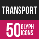 Transport Glyph Inverted Icons