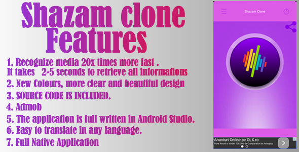 Shazam Clone - CodeCanyon Item for Sale