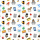 Internet Security Seamless Pattern - GraphicRiver Item for Sale