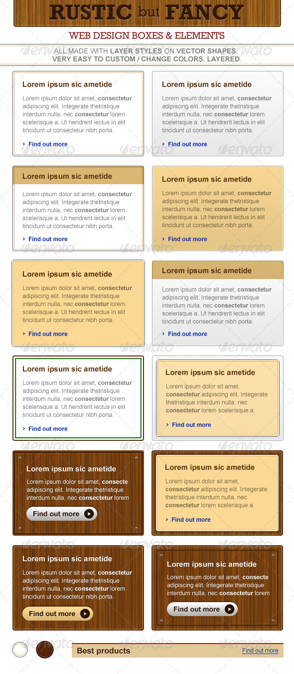 Rustic But Fancy - Web Design Elements - Miscellaneous Web Elements