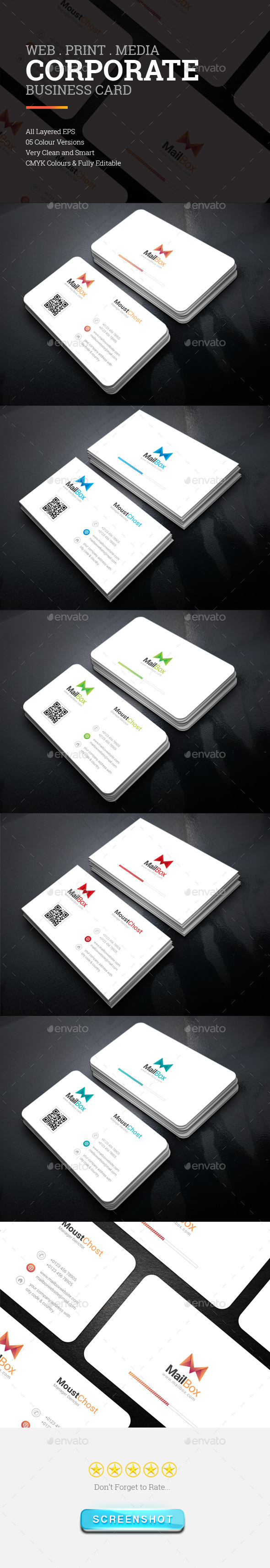 MailBox Corporate Business Card