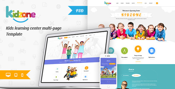 Kidzone - Primary School For Children PSD - Children Retail