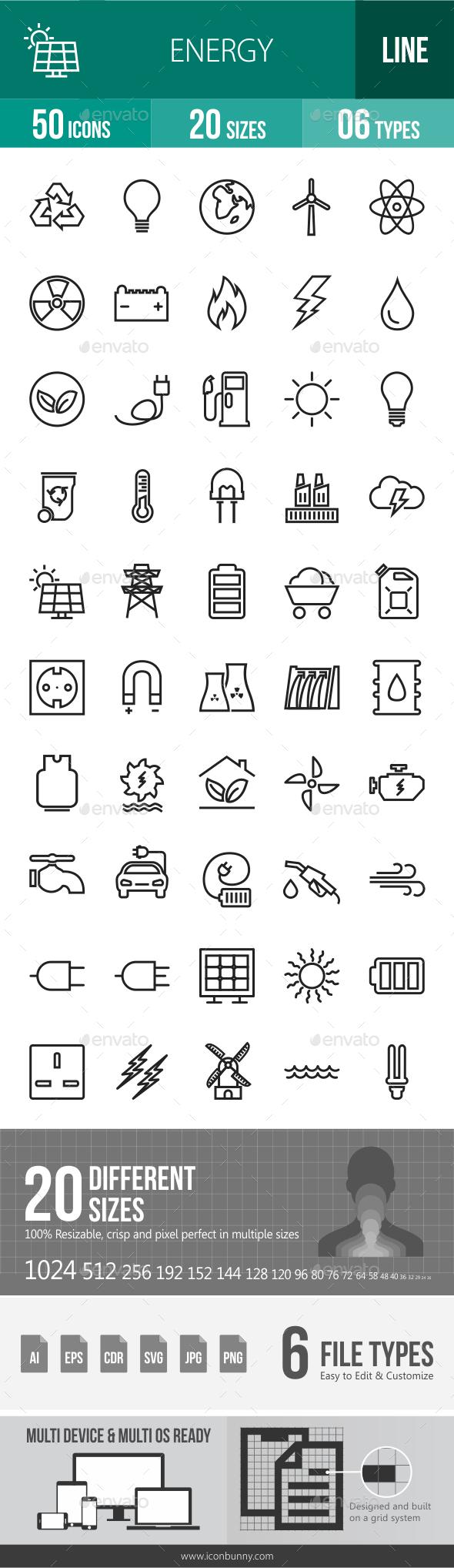Energy Line Icons - Icons