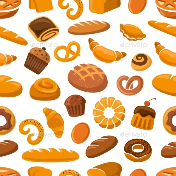 Bakery And Pastry Seamless Pattern - Backgrounds Decorative