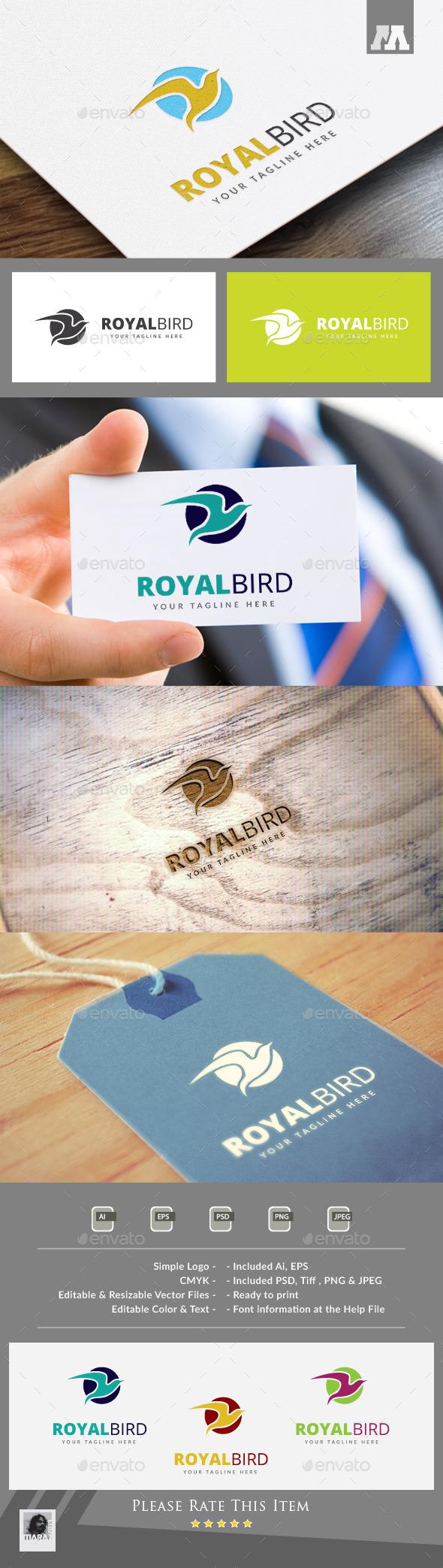 Royal Bird Logo Template - Animals Logo Templates