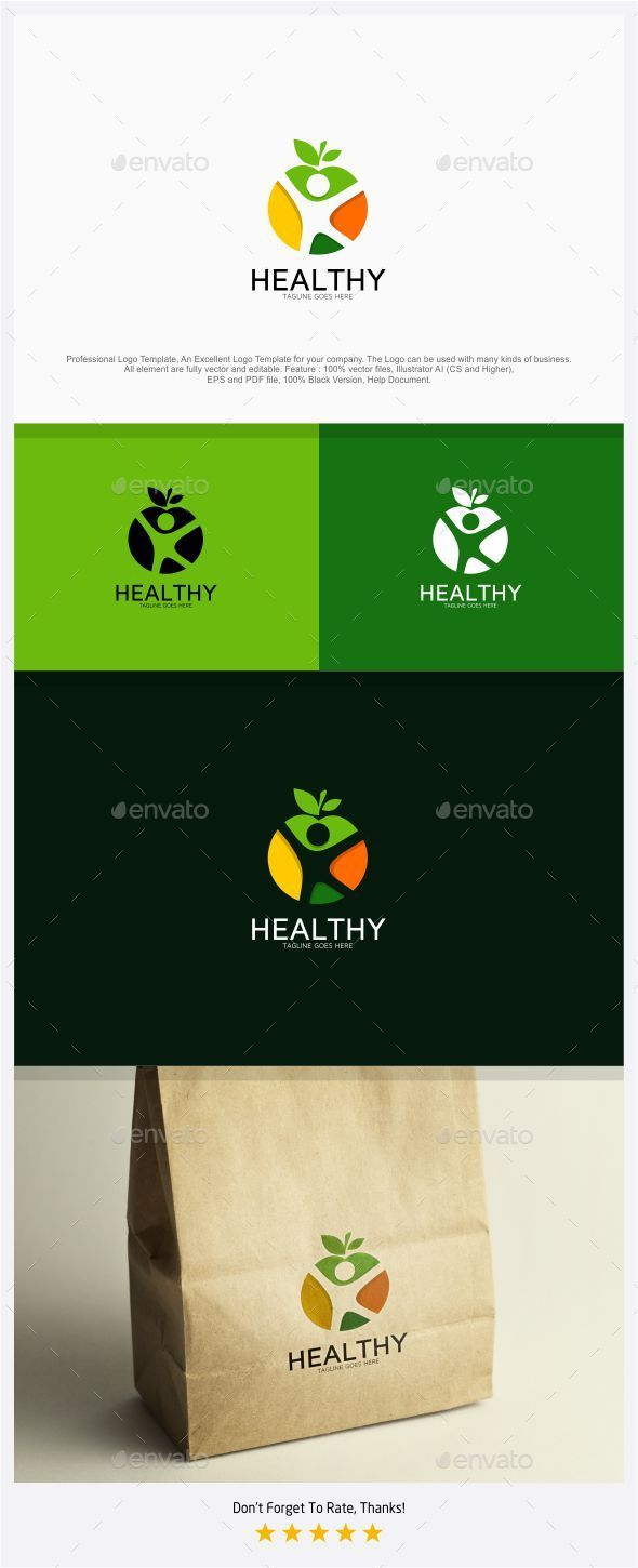 Healthy Food and Body Logo - Logo Templates