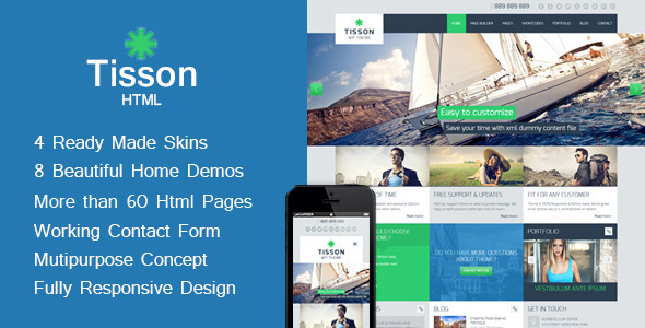 Tisson - Multipurpose  HTML Theme - Corporate Site Templates