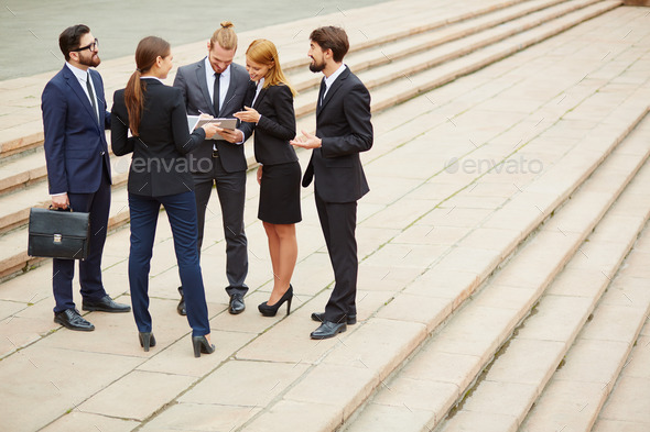 Outdoor discussion - Stock Photo - Images