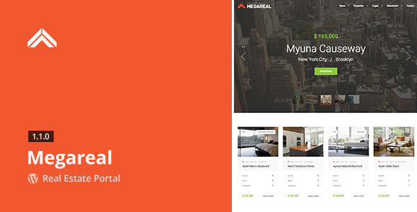 Megareal – Real Estate Portal WordPress Theme
