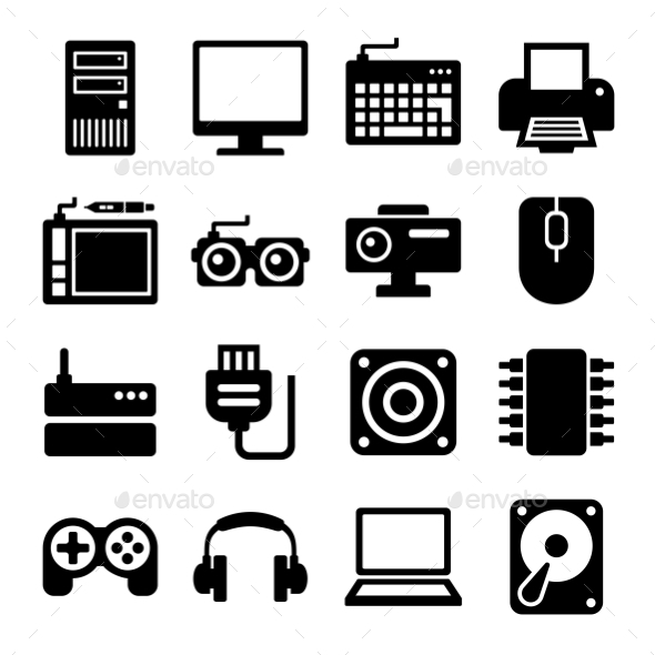Computer Icons Set. Vector - Technology Icons