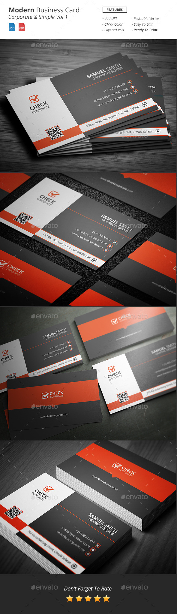 Modern - Corporate Business Card Vol 1 - Corporate Business Cards